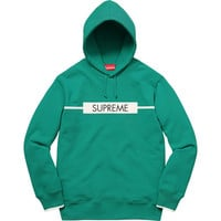 Supreme: Chest Twill Tape Hooded Sweatshirt - Aqua