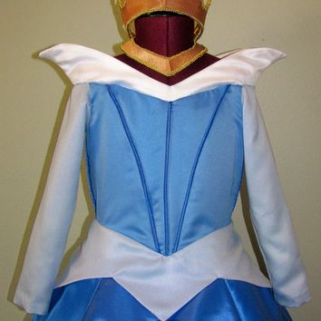 SAMPLE SALE Girl's Size 6/7 Blue Sleeping Beauty Costume