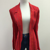 A/ Jgj sportswear color strip blazer sizeXL