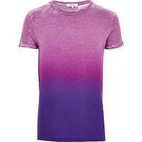 River Island MensPurple faded print t-shirt