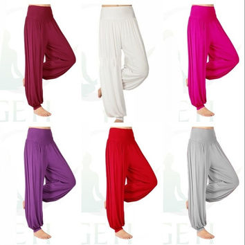 Womens Ladies Harem Yoga Taichi Belly hippie baggy  jumpsuit Dance Pants Boho Trousers = 1933156740