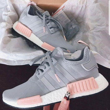 "Women ""Adidas"" Fashion Trending Pink/Gray Leisure Running Sports Shoes"