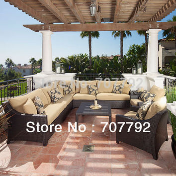New design rattan outdoor cheap lounge furniture