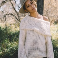 Wake Me Up Sweater In Ivory