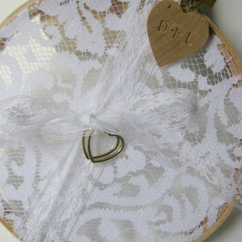 Custom Wedding Lace Ring Bearer Hoop - Personalized for Your Wedding