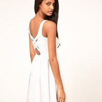 ASOS | ASOS Skater Dress With Cross Back Detail at ASOS