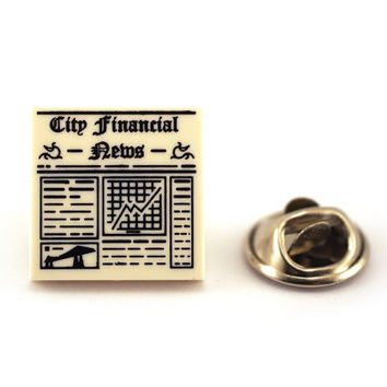 City Financial News, Tie Pin, Tie Tack Pin, Men's Tie Tacks, Tie Tac, Silver Tie Clip, Tie Clips Men, Wedding Clip, Tie Tack