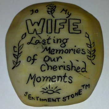 Visitation Stone for Graves - Wife