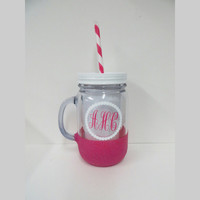 Personalized Tumbler * Personalized cup * Custom tumbler * Monogrammed tumbler * Personalized gift * Tumbler cup with straw *