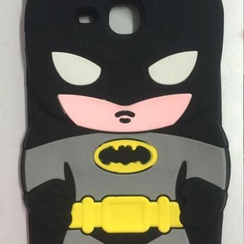 Batman Dark Knight gift Christmas Cartoon Cute 3D batman Silicon Soft Back Cover For Samsung Galaxy Tab A 7.0 T280 T285 SM-T280 coque tablet case+film AT_71_6