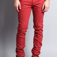 Men's Skinny Fit Colored Jeans DL937 (Picante)