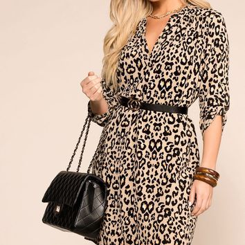 Hunter Leopard Swing Dress