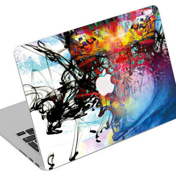 Stickers Macbook Decal Skin Macbook Air Skin Pro Skins Retina Cover Paint Colors Picture Christmas Gift New Year ( rm29)