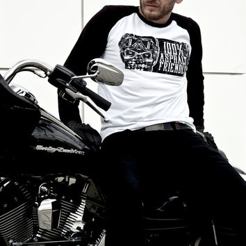 100% Asphalt Friendly Tee-Unisex motorcycle Tee-Men's motorcycle shirt-Women's motorcycle shirt-Caferacer Tee-Motorcycle clothing-Skull Tee