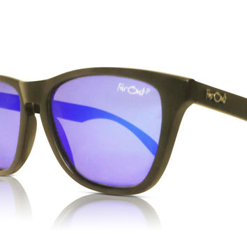 Black Polarized Dark Blue Lens