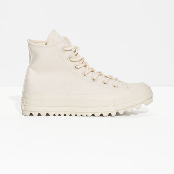 Converse Lift Ripple High - Cream - Converse - & Other Stories GB