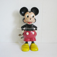Vintage Marx Mickey Mouse Wind Up Toy Disney Collectible Toy WDP