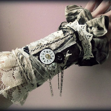 Clock cuff by NaturallyBohemian on Etsy