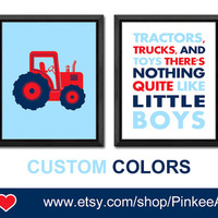 tractors trucks and toys nursery wall art tractor boy nursery art toddlers room decor kids playroom decor boys room art baby boy gift