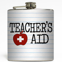 Teacher's Aid - Funny Flask
