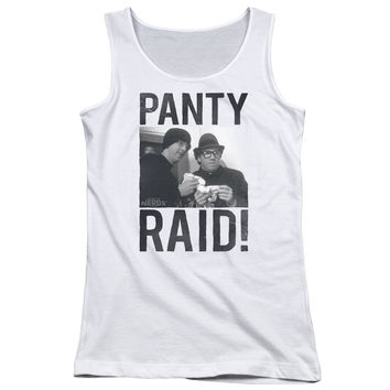 Revenge of the Nerds Panty Raid White Womens Tank-Top T-Shirt