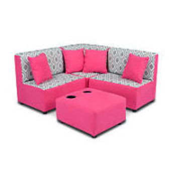 Zippity Kids Sectional Set - Nicole Storm Twill