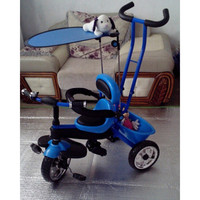 4 in 1  Baby Stroller Tricycle Trolley Carriage Bike Bicycle Wheels Walker with Harness