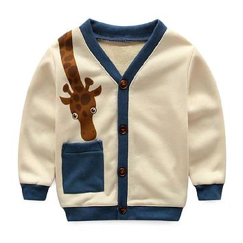 Spring Children Sweaters For Boys Cardigan Baby Boy Sweaters cotton Crochet Coat Kids Winter Knitted Jacket