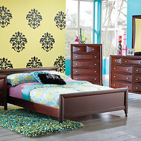 Ivy League  5 Pc Twin Low Profile Bedroom