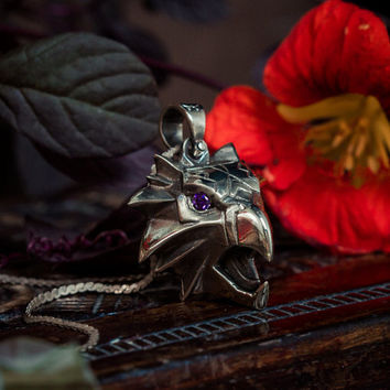 Griffin pendant inspired by Andrzej Sapkowski high quality with steel 50cm chain!