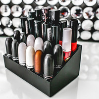 Lipstick Organizer | Acrylic Makeup Storage Holder Solution for Vanity Tables | By N2 Makeup Co