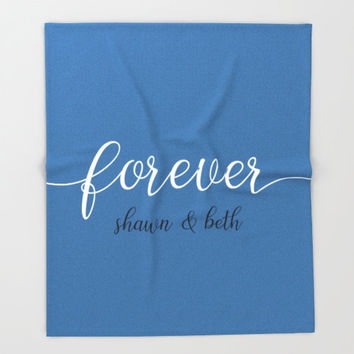 Annivesary Gifts For Women, Personalized Fleece Blanket Throw, Couples Gift Ideas, Wedding Gifts Personalized Throws, Modern Home Decor