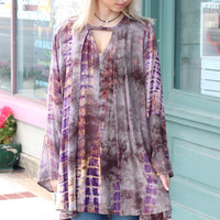 Sweet Child O' Mine Tie Dye Tunic Dress {Honey Mix}