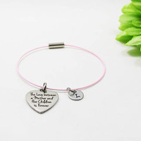 The Love Between A Mother And Her Children Is Forever Bracelet - Mother Daughter Love Bangle - Mother Daughter Charm Bracelet - Mothers Love