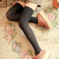 Sexy Black Over The Knee Thigh High Socks Hosiery Pantyhose Legging Tights