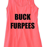 Buck Furpees Burpees Train Gym Tank Top Flowy Racerback Workout Custom Colors You Choose Size & Colors