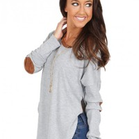Carry You With Me Top in Heather Grey | Monday Dress Boutique
