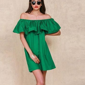 Romy Wanderer Ruffle Dress