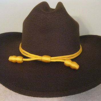 Western Cowboy Hat - Cattleman's with Cavalry Band - Brown (large/extra large)
