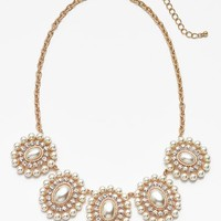 Junior Women's BP. Pearl Cluster Statement Necklace