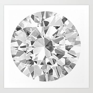Diamond Art Print by Lllg