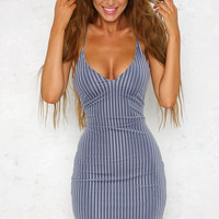 Brighter Side Dress Steel Blue