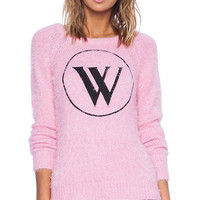 Wildfox Couture White Label WS Logo Sweater in Pink