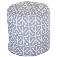 Gray Aruba Small Pouf