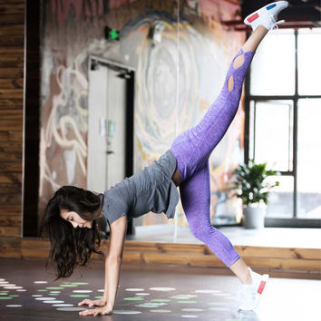Workout Infinity Leggings Cropped Activewear Legging For Women Fitness Yoga Pants Compression Running Pants Women