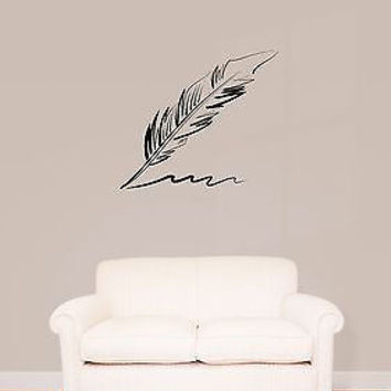 Wall Stickers Vinyl Decal Feather Plume Pen Writers Journalist  (z1595)
