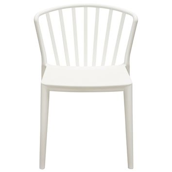 Pax 4-Pack Indoor/Outdoor Accent Chairs in White Polypropylene (PP)