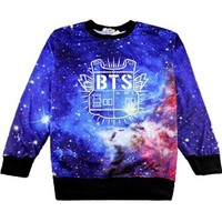 BTS Bangtan Boys Sweater Starry Round Collar Pullover Shirt