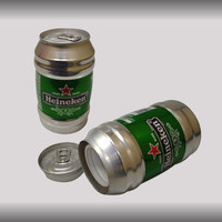 Curved Heineken Beer Can Safe