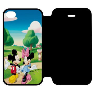 Mickey Mouse and Minnie Mouse Dance iPhone 4 | 4S Flip Case Cover